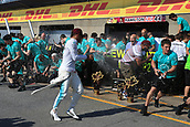 June 11th 2017, Circuit Gilles Villeneuve, Montreal Quebec, Canada; Formula One Grand Prix, Race Day. Mercedes F1 Team post race celebration