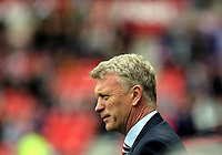 Sunderland manager David Moyes stands on the touchline during to the Premier League match between Sunderland and Swansea City at the Stadium of Light, Sunderland, England, UK. Saturday 13 May 2017
