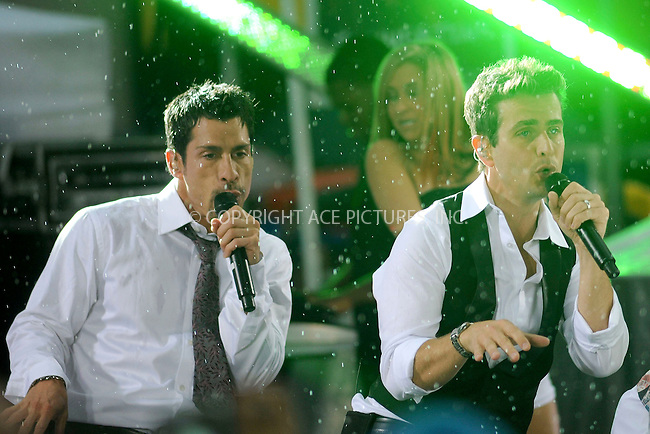 WWW.ACEPIXS.COM . . . . .....May 16, 2008. New York City,....Singers Danny Wood and Joey McIntyre of the New Kids on the Block perform on the 'Today show in Rockefeller Plaza...  ....Please byline: Kristin Callahan - ACEPIXS.COM..... *** ***..Ace Pictures, Inc:  ..Philip Vaughan (646) 769 0430..e-mail: info@acepixs.com..web: http://www.acepixs.com