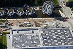 DEUTSCHLAND Hamburg, Bauprojekte der IBA Internationale Bauausstellung, WaterHouses sowie Eingang IGS Internationale Gartenschau mit Schwimmbad mit Solardach<br /> /<br /> GERMANY Hamburg Wilhelmsburg, IGS and IBA projects , solar roof