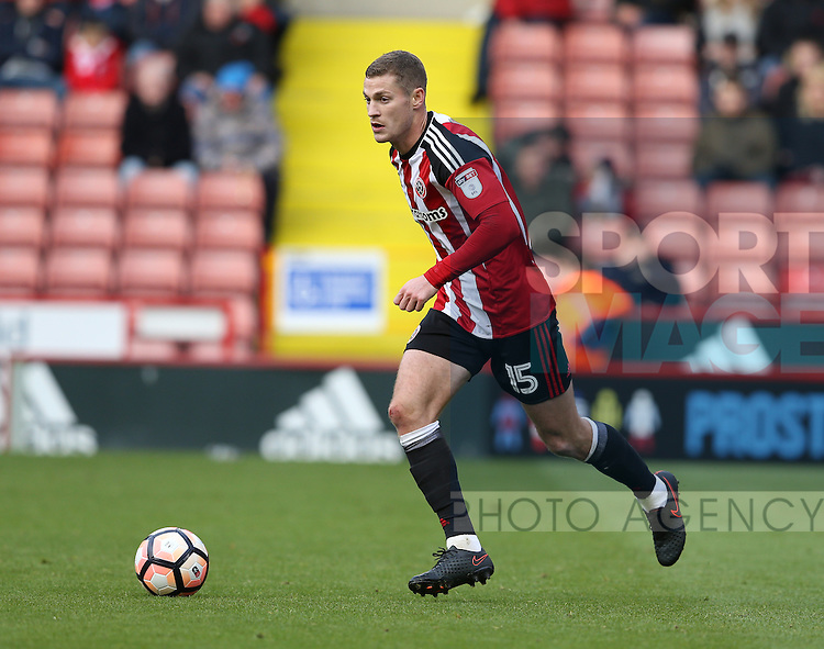 Paul Coutts of Sheffield Utd during the Emirates FA Cup Round One match at Bramall Lane Stadium, Sheffield. Picture date: November 6th, 2016. Pic Simon Bellis/Sportimage