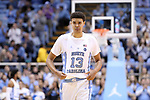 CHAPEL HILL, NC - DECEMBER 20: North Carolina's Cameron Johnson. The University of North Carolina Tar Heels hosted the Wofford College Terriers on December 20, 2017 at Dean E. Smith Center in Chapel Hill, NC in a Division I men's college basketball game. Wofford won the game, upsetting UNC, 79-75.