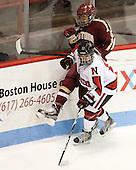 Rachel Llanes (NU - 11), Kaliya Johnson (BC - 6) - The Northeastern University Huskies defeated Boston College Eagles 4-3 to repeat as Beanpot champions on Tuesday, February 12, 2013, at Matthews Arena in Boston, Massachusetts.