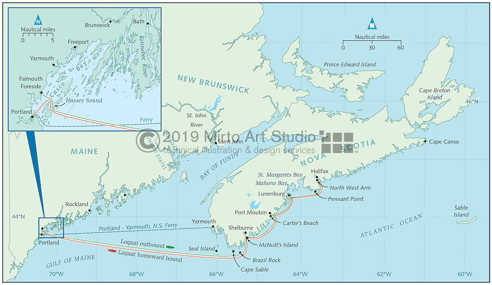 map of nova scotia and maine Portland To Halifax Mirto Art Studio map of nova scotia and maine