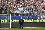 12.05.2018,  GER; 1.FBL Hamburger SV vs Borussia Moenchengladbach, im Bild Feature die Polizei steht vor der Suedtribuene auch nach dem Abmarsch der Ultras Foto © nordphoto / Witke *** Local Caption ***