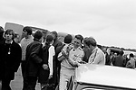 The late Barrie Williams in conversation with fellow mini racer John Rhodes at Brands Hatch in 1969.<br /> <br /> Guards International Trophy Meeting.