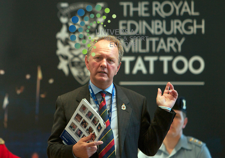 Diamond Jubilee Royal Edinburgh Military Tatoo programme revealed.29-07-10.Major General Euan Loudon........Details of the complete programme for the forthcoming diamond jubilee Royal Edinburgh Military Tattoo were revealed by chief executive and producer Major General Euan Loudon, along with new DVD launch..At Edinburgh Castle, Edinburgh...Picture: Mark Davison/Universal News and Sport (Scotland) 29 July 2010.