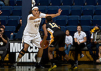 Justine Hartman of California in defense mode during the game against Long Beach State at Haas Pavilion in Berkeley, California on November 8th, 2013.  California defeated Long Beach State, 70-51.