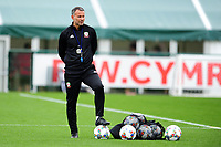 Ryan Giggs Manager Of Wales in action during the Wales Training Session and Press Conference at The Vale Resort in Cardiff, Wales. September 3, 2018