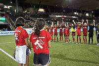 Portland, OR - Sunday July 31, 2016: Girls of the Game after a regular season National Women's Soccer League (NWSL) match between the Portland Thorns FC and Seattle Reign FC at Providence Park.