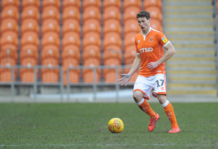 Blackpool's Matthew Virtue<br /> <br /> Photographer Kevin Barnes/CameraSport<br /> <br /> The EFL Sky Bet League One - Blackpool v Walsall - Saturday 9th February 2019 - Bloomfield Road - Blackpool<br /> <br /> World Copyright &copy; 2019 CameraSport. All rights reserved. 43 Linden Ave. Countesthorpe. Leicester. England. LE8 5PG - Tel: +44 (0) 116 277 4147 - admin@camerasport.com - www.camerasport.com