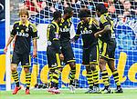 Stockholm 2015-05-25 Fotboll Allsvenskan Djurg&aring;rdens IF - AIK :  <br /> AIK:s Mohamed Bangura har ont efter sitt 0-2 m&aring;l under matchen mellan Djurg&aring;rdens IF och AIK <br /> (Foto: Kenta J&ouml;nsson) Nyckelord:  Fotboll Allsvenskan Djurg&aring;rden DIF Tele2 Arena AIK Gnaget jubel gl&auml;dje lycka glad happy depp besviken besvikelse sorg ledsen deppig nedst&auml;md uppgiven sad disappointment disappointed dejected