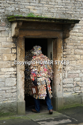 Marshfield Mummers, Boxing Day performance, Gloucestershire, England. 2006. Enter the presidents house at end.