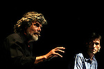 Trento Film Festival 2015 with climbers and alpinists Reinhold Messner and Herve Barmasse on Friday 8th of May 2015, in Trento, Italy.