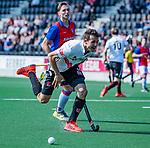 AMSTELVEEN - Nicky Leijs (Adam)   tijdens  de hoofdklasse competitiewedstrijd hockey heren,  Amsterdam-SCHC (3-1).  COPYRIGHT KOEN SUYK