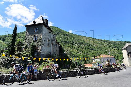 22.07.2014. Carcassonne to Bagnères-de-Luchon, France. Tour de France cycling championship, stage 16.   the peleton