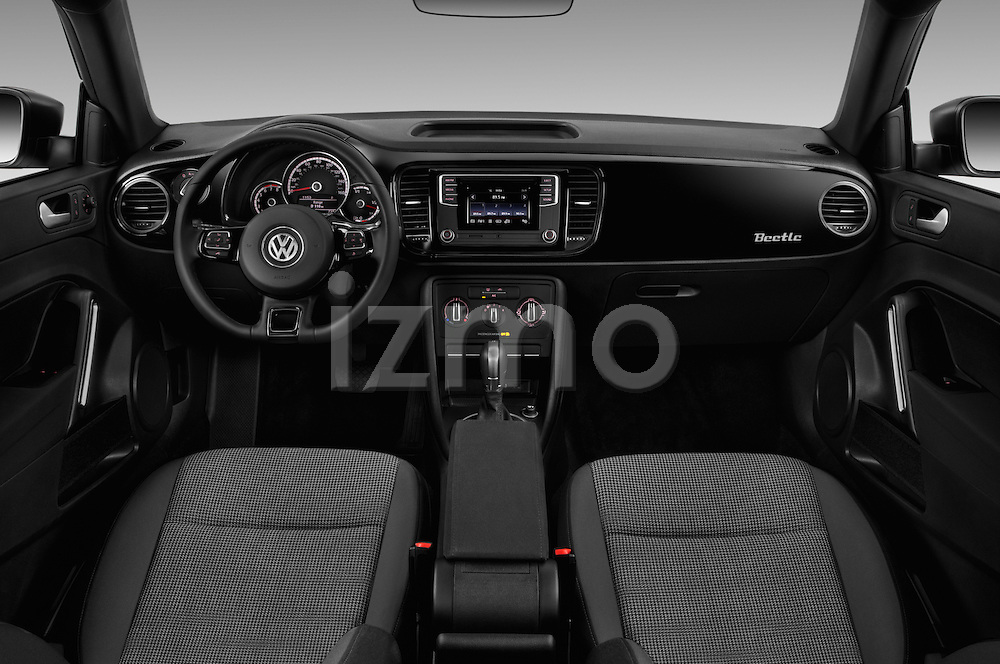 Stock photo of straight dashboard view of 2017 Volkswagen Beetle S 3 Door Hatchback Dashboard