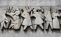 Muur van het Centraal Station Eindhoven. Kunst.