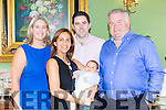 Diego James O'Leary London celebrated his christening with his parents Tim and Adriana O'Leary and god parents Michael and Ashling O'Leary in the Dromhall Hotel Killarney on Saturday night