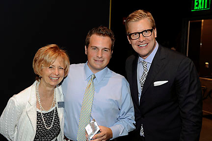 Brendan McCarthy (center), with Barbara Rutberg and Michael Mendenhall at Alumni Weekend 2010