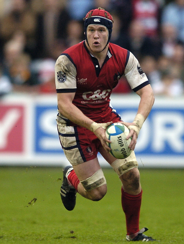 Photo: Jonathan Butler..Gloucester Rugby v Agen. Heineken Cup. 28/10/2006..Luke Narraway of Gloucester attacks.