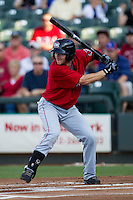 Oklahoma City RedHawks shortstop Marwin Gonzalez (9) at bat during the Pacific Coast League baseball game against the Round Rock Express on July 9, 2013 at the Dell Diamond in Round Rock, Texas. Round Rock defeated Oklahoma City 11-8. (Andrew Woolley/Four Seam Images)