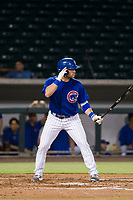 AZL Cubs third baseman Cam Balego (82) at bat against the AZL Giants on September 6, 2017 at Sloan Park in Mesa, Arizona. AZL Giants defeated the AZL Cubs 6-5 to even up the Arizona League Championship Series at one game a piece. (Zachary Lucy/Four Seam Images)