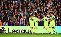 Liverpool players celebrate Emre Can scoring  during the EPL - Premier League match between Crystal Palace and Liverpool at Selhurst Park, London, England on 29 October 2016. Photo by Steve McCarthy.