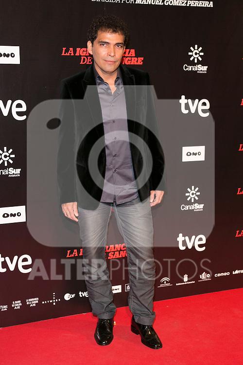 """Bladimir Cruz attends """"La Ignorancia de la Sangre"""" Premiere at Capitol Cinema in Madrid, Spain. November 13, 2014. (ALTERPHOTOS/Carlos Dafonte)"""