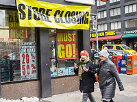 A RadioShack store in the Chelsea neighborhood in New York in Saturday, March 18, 2017 . After filing a second time for Chapter 11 bankruptcy protection RadioShack will close 552 stores, roughly 36% of its locations. (© Richard B. Levine)