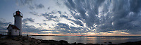lighthouse sunset, panorama, Annisquam, Cape Ann, MA