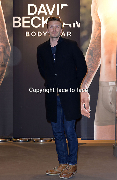 David Beckham promotes among 200 handpicked guests his new David Beckham Bodywear H&M Collection at the H&M Store ALEXA . Berlin, Germany 19.03.2013. Credit Timm/face to face