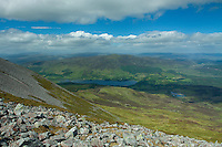 Dunalastair Water from the summit of Schiehallion, Perthshire