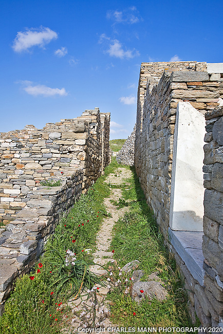 The island of Delos near Mykonos has always a sacred island. The island is considered the mythological birthplace of Apollo and Artemis. A path thrugh the ruins evokes a romantic past.