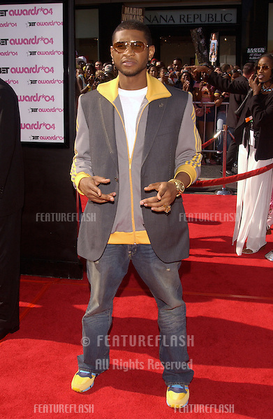 USHER at the 2004 BET (Black Entertainment TV) Awards at the Kodak Theatre, Hollywood..June 29, 2004