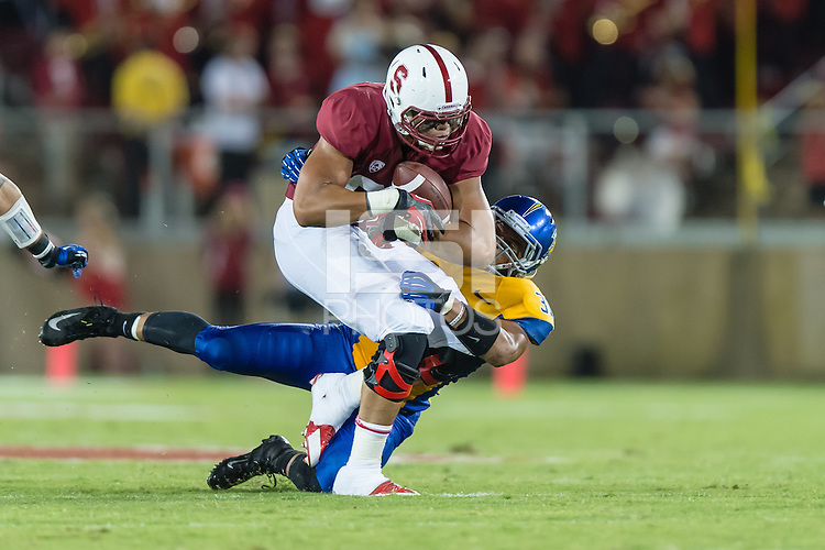 STANFORD, CA - SEPTEMBER 7, 2013: Luke Kaumatule during Stanford's game against San Jose State. The Cardinal defeated the Spartans 34-13.