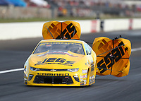 Sep 2, 2017; Clermont, IN, USA; NHRA pro stock driver Jeg Coughlin Jr during qualifying for the US Nationals at Lucas Oil Raceway. Mandatory Credit: Mark J. Rebilas-USA TODAY Sports