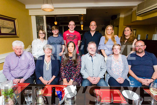 Sinead Allen, Ballymac and Barry Perfect, Ardfert, celebrate their engagement with family at Brogue Inn on Saturday Pictured front l-r Tom Allen, Ann Allen, Sinead Allen, Barry Perfect, Michelle Cahill, Mike Cahill, Back l-r Amelia Cahill, Michael Cahill, Darragh O'Connor, John Allen, Carol Castles and Britta Allen