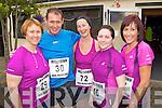 Pictured at the Milltown Mini Marathon on Sunday, from left: Brenda Fitzgerald (Faha), Dan Fitzgerald (Faha), Eileen Sweeney (Fossa), Joanne Lenihan (Keel) and Kathleen Ladden (Keel)..