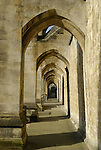 Arches on the South side of Winchester Cathedral