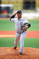 GCL Tigers West relief pitcher Malvin Martinez (47) during a game against the GCL Tigers East on August 4, 2016 at Tigertown in Lakeland, Florida.  GCL Tigers West defeated GCL Tigers East 7-3.  (Mike Janes/Four Seam Images)