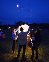 Glow Lanterns Released in Buckingham, Pennsylvania