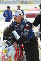 May 2, 2008; Richmond, VA, USA; NASCAR Nationwide Series driver Brett Rowe during the Lipton Tea 250 at the Richmond International Raceway. Mandatory Credit: Mark J. Rebilas-