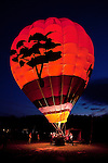 Charlotte NC - HOT AIR BALLOON GLOW at the Statesville Balloon Rally