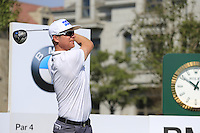Mikko Ilonen (FIN) on the 10th tee during Tuesday's Pro-Am Day of the 2014 BMW Masters held at Lake Malaren, Shanghai, China 28th October 2014.<br /> Picture: Eoin Clarke www.golffile.ie