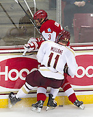 Pat Mullane (BC - 11), Ahti Oksanen (BU - 3) - The Boston College Eagles defeated the visiting Boston University Terriers 5-2 on Saturday, December 1, 2012, at Kelley Rink in Conte Forum in Chestnut Hill, Massachusetts.