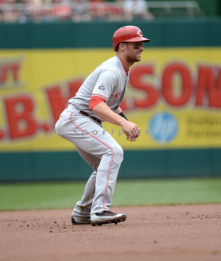 Cincinnati Reds Zack Cozart (2) during a game against the Washington Nationals on July 3, 2016 at Nationals Park in Washington DC. The Nationals beat the Reds 12-1.