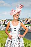 Best Dressed Lady was Tasha O'Connor, Templeglantine at  the Listowel Races Ladies Day on Sunday