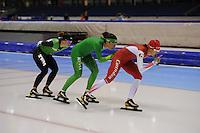 SCHAATSEN: HEERENVEEN: 28-09-2013, IJsstadion Thialf, Team Pursuit training, ©foto Martin de Jong