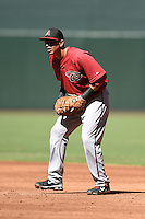 Arizona Diamondbacks first baseman Rudy Flores (34) during an Instructional League game against the Oakland Athletics on October 10, 2014 at Chase Field in Phoenix, Arizona.  (Mike Janes/Four Seam Images)